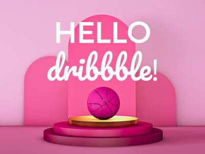 Hello Dribbble! design cinema4d 3d firstshot first shot hello dribbble hellodribbble hello set design 3d artist 3d art