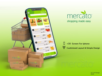 mercato gerocery app delivery shopping app shot web design grocery app uiux ui