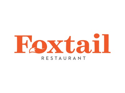 Foxtail Restaurant tail fox logo restaurant