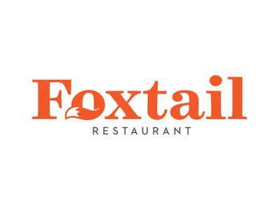 Foxtail Restaurant tail fox logo restaurant