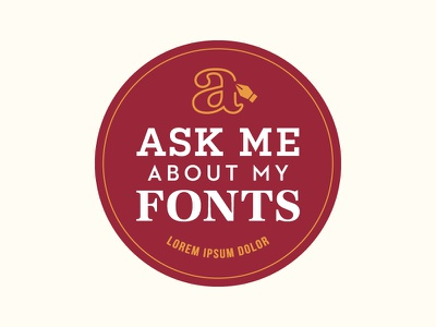 'Ask Me' Button typograhpy ask me lorem ipsum fonts button