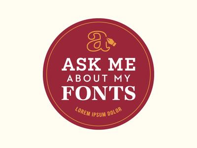 'Ask Me' Button typograhpy ask me lorem ipsum fonts button