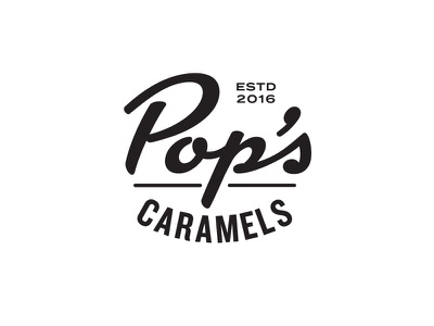 Pop's Caramels script logo