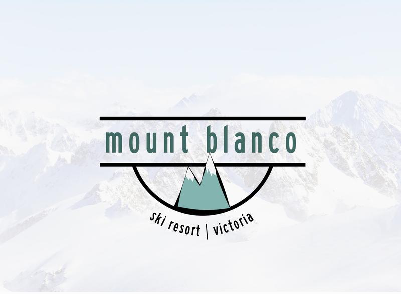 Daily Logo Challenge: Day 8   Mount Blanco snowboard mountains green blue ski resort mountain ski snow air design branding logo illustration dailylogo daily logo design daily logo dailylogochallenge