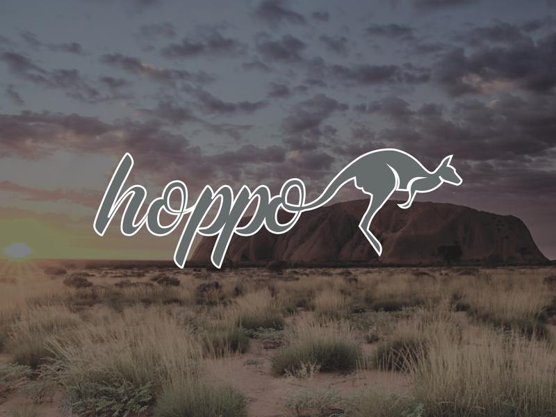 Daily Logo Challenge: Day 19 | Hoppo aussie ayers rock hopo hoppo australian australia drawing script kangaroo desert outback design logo branding illustration daily logo design dailylogo daily logo dailylogochallenge
