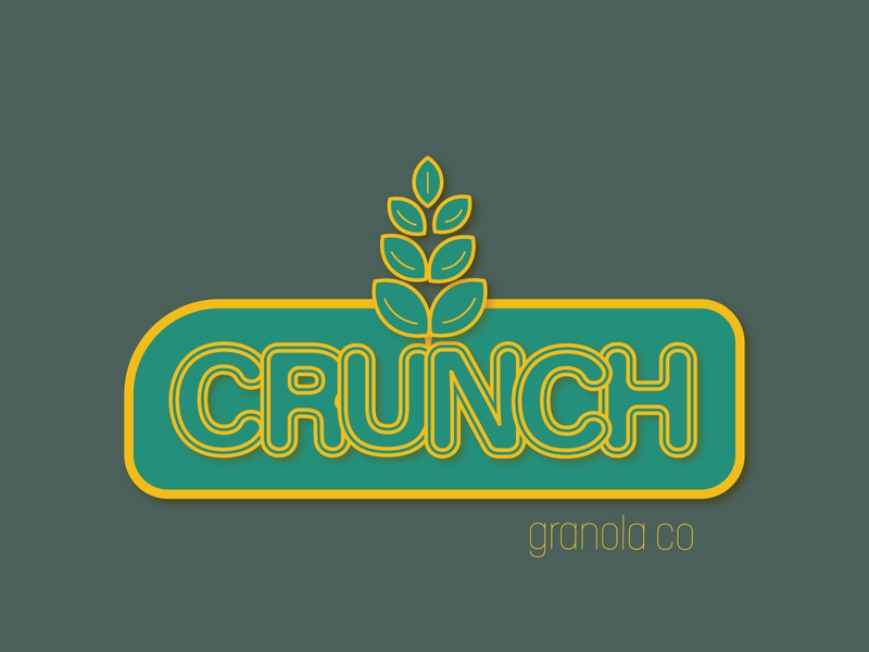 Daily Logo Challenge: Day 21 | Crunch badge wheat granola crunch yellow blues teal blue air design logo branding illustration daily logo design daily logo dailylogo dailylogochallenge