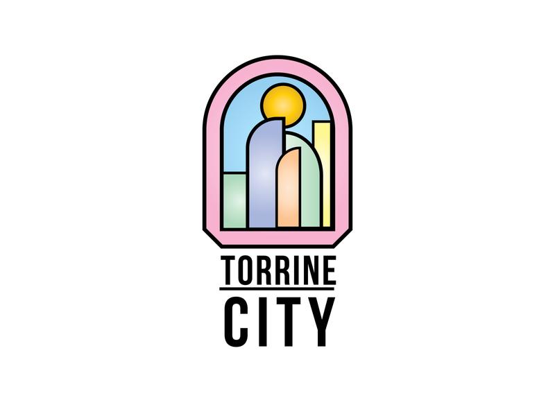 Daily Logo Challenge: Day 22 | Torrine City city branding city illustration torrine city air blue logo design branding illustration daily logo design daily logo dailylogo dailylogochallenge