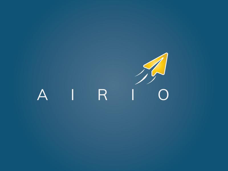 Daily Logo Challenge: Day 26 | Airio day 26 airio plane paprer aeroplane blue logo design branding illustration daily logo design daily logo dailylogo dailylogochallenge