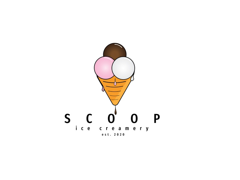 Daily Logo Challenge: Day 27 | Scoop ice cream truck creamery ice cream shop scoop drop melting ice cream cone ice cream logo design branding illustration daily logo design dailylogo daily logo dailylogochallenge