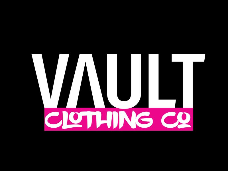 Daily Logo Challenge: Day 28 | Vault clothing design font black pink clothes label clothes vault clothing harris robert day 28 clothing brand clothing daily logo design daily logo dailylogo dailylogochallenge vault