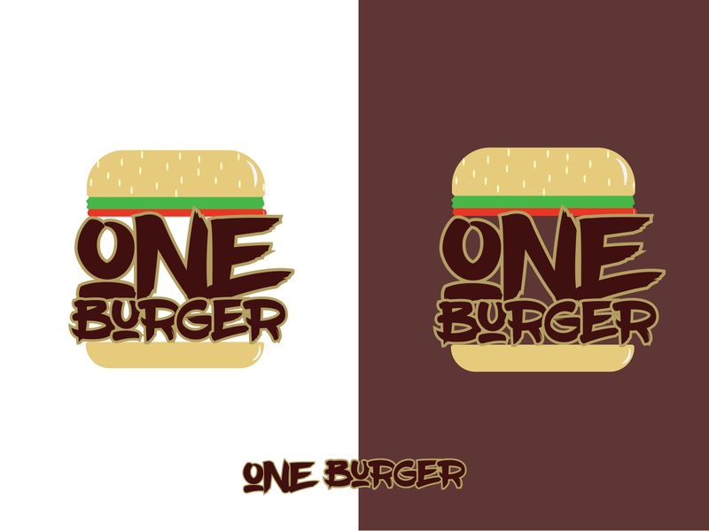 Daily Logo Challenge: Day 33 | One Burger logo branding illustration big buns fries and guys hamburger logo burger logo burger hamburger one burger harris robert daily logo design dailylogo daily logo dailylogochallenge