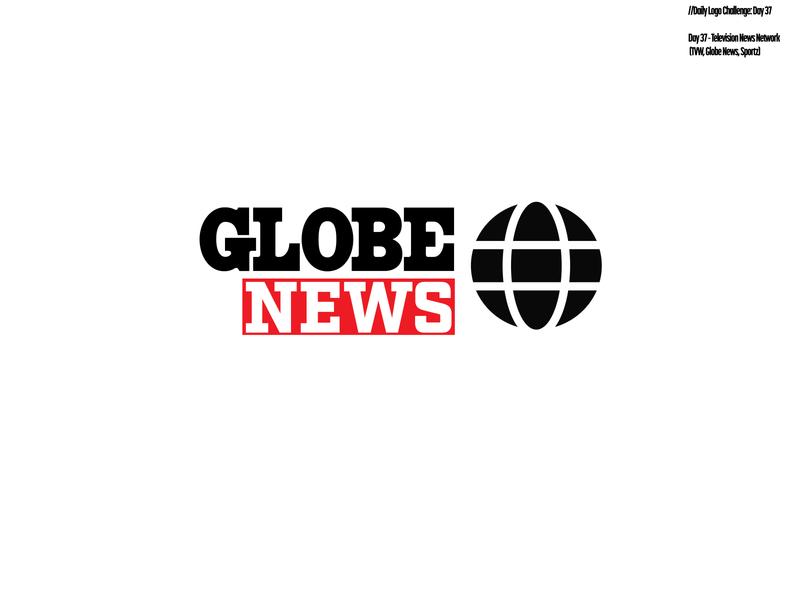 Daily Logo Challenge: Day 37 | Globe News tv show tv logo news sportz globe news tvw globe red design logo branding illustration harris robert daily logo design daily logo dailylogo dailylogochallenge