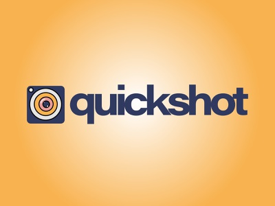 Daily Logo Challenge: Day 40| Quickshot harris robert quickshot camera app navy yellow logo pink yellow blue design logo illustration branding daily logo design daily logo dailylogo dailylogochallenge