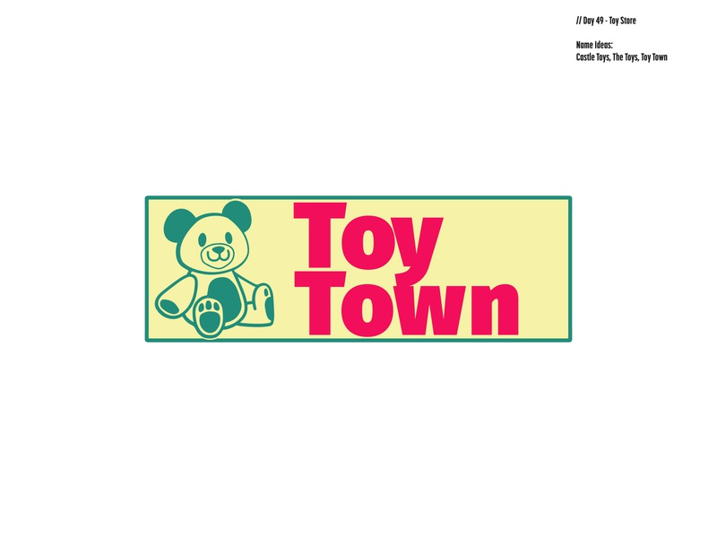 Daily Logo Challenge: Day 49   Toy Town green pink toys castle toy store toy town teddy bear design logo branding illustration daily logo design dailylogo daily logo dailylogochallenge