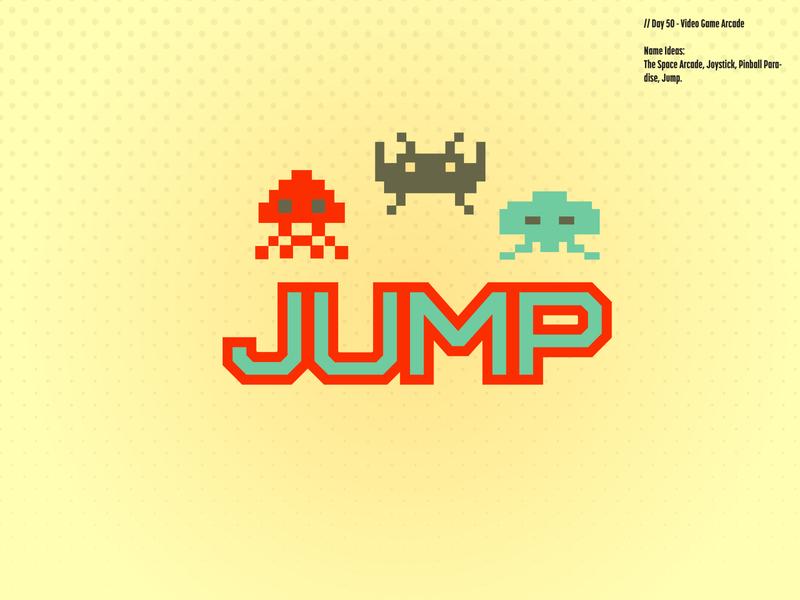 Daily Logo Challenge: Day 50 | Jump arcade atari pixels retro jumpman green orange joystick jump arcade game design logo branding illustration daily logo design daily logo dailylogo dailylogochallenge