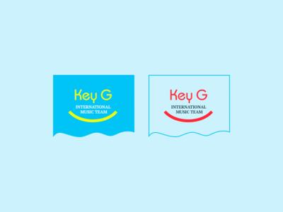 Key G logo music band site web design logo key g