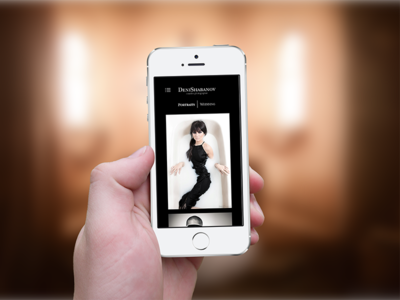 Mobile version site of the photographer photographer flat site web ui design mobile version