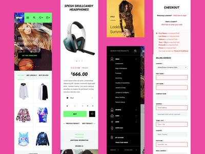 Mobile pages for Spesh website / eCommerce / Glitch cyberpunk mobile app store design spesh ecommerce app branding web mobile ui mobile design catalog product card product page shopping cart ecommerce shop stores ecommerce shop store design ui
