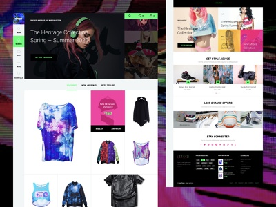 Spesh website / eCommerce Cyberpunk responsive bestseller magento 2 women rose glitch cyberpunk professional ecommerce featured home screen desktop template web homepagedesign homepage shop ui store
