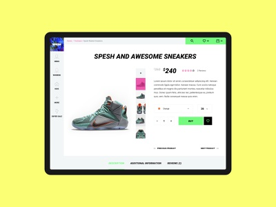 Product page for Spesh website / eCommerce Cyberpunk style basov spesh minimal responsive design product design product card buy sneakers ecommerce design product template glitch effect glitch cyberpunk ecommerce shop store web ui product page