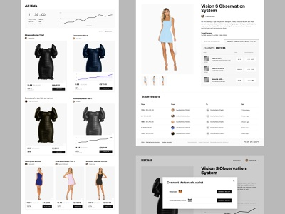 All Bids. Digitalax Auctions / Blockchain Platform / NFT Market digital art luxury design minimal luxury money finance coin website crypto nft ux ui web shop store