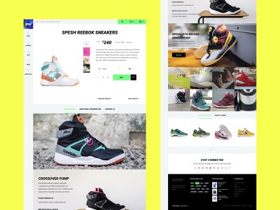 Product page for WooCommerce. Spesh website style superstar rockstar sneakers description product design product page ecommerce store shop shopping buy young woocommerce magento2 productdesign bright ui poisonous color toxic