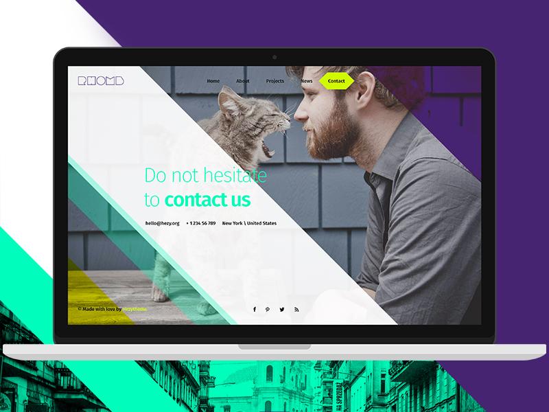 Super Rhomb creative ux responsive ui super flat corporate blog portfolio hezytheme psd rhomb