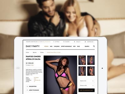 Daxy Tablet daxy store shop template ecommerce minimalistic lingerie underwear webdesign