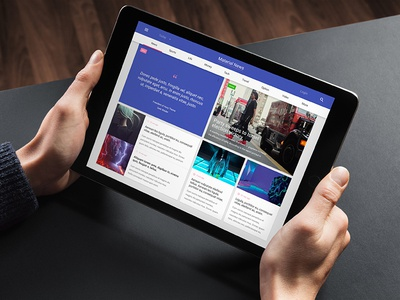 Material News materialdesign material news hezy webdesign ui ux web responsive template post theme