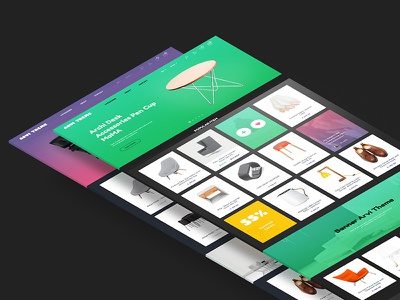 Arvi (PSD + HTML) gradient hz theme web portfolio blog store shop template html freebie arvi