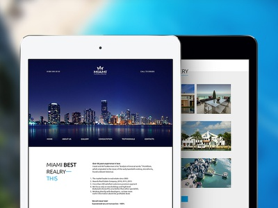 Miami Landing Page minimal site business gallery corporate freebie free web template psd landing