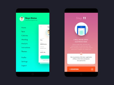 Day 007 — Test and Navigation on Mobile app ux ui profile doctor health mobile navigation test medical
