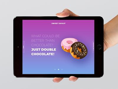 Day 010 — Sweet Donut Slider site bright web gradient slider sweet donut ux ui day010 daily100