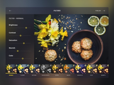 Day 024 — Filtres editor photo options filter freebie free ux ui day024 daily100 dailyui