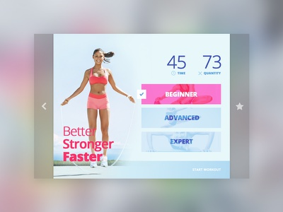 Day 035 — Workout healthcare health workout sport freebie free ux ui day010 daily100 dailyui