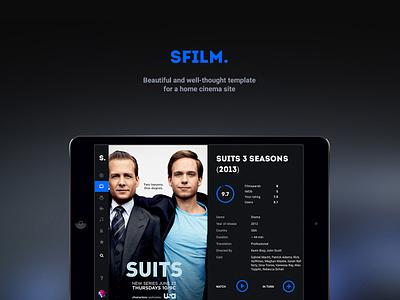 SFilm website black ux ui cinema film serial movie web template psd