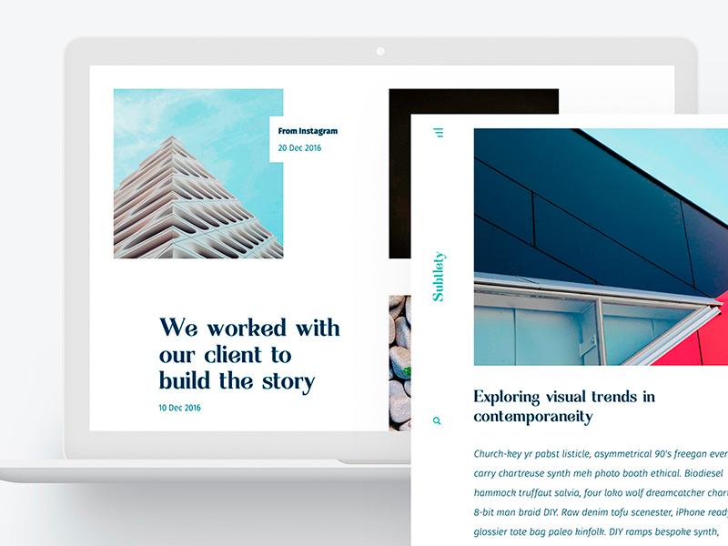 Freebie – Blog Template minimalistic light psd webdesign web blog popular free freebie