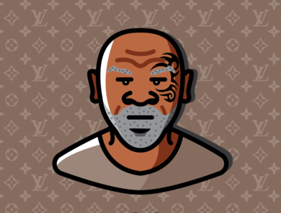 Mike Tyson drawing cartoon boxer fighter fight box illustration sports boxing tyson mike miketyson
