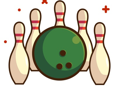 Bowling vector for sale icon logo art design branding illustration bowling pin sport bowling ball bowling