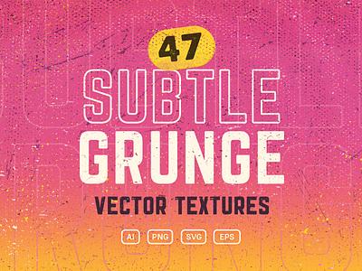 Subtle Grunge Vector Textures dirty subtle grunge retro vector graphics vectors vector textures .eps .png .svg .ai premium freebie design assets illustrator vintage subtle creative market grunge texture