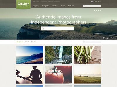 Photos on Creative Market photos landing page