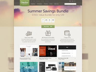 Bundle Landing Page bundle creative market countdown button landing page