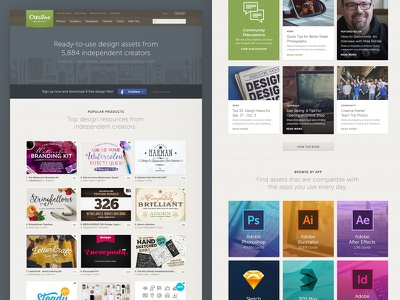 Homepage Refresh creative market homepage redesign