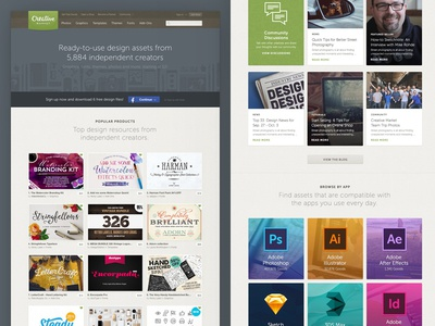 Homepage Refresh creative market homepage redesign