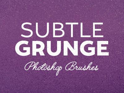 Subtle Grunge Brushes 5 brushes grunge texture