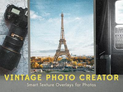 Vintage Photo Creator actions photoshop subtle grunge grunge patterns seamless kit creator photo vintage