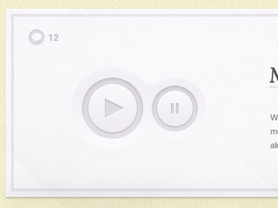 Purple Play & Pause paper purple texture button subtle audio