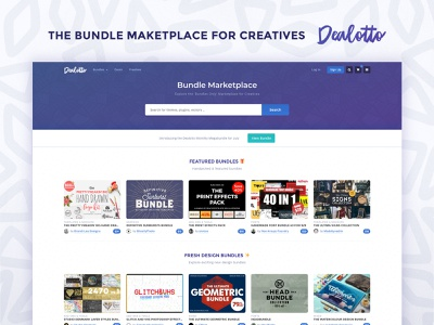 Dealotto Rebrand & Redesign css dealotto wordpress web design bundles ui design homepage marketplace