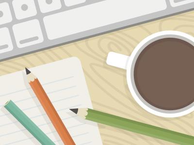 Office Stuff - Creative Market office coffee keyboard desk