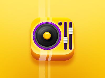 DJ app icon dj oldschool app icon illustration design